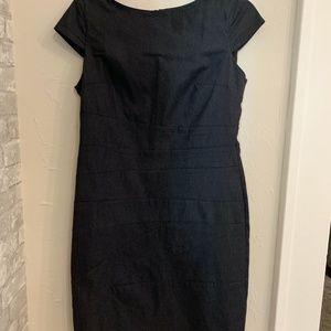 Gray Cap Sleeve Dress
